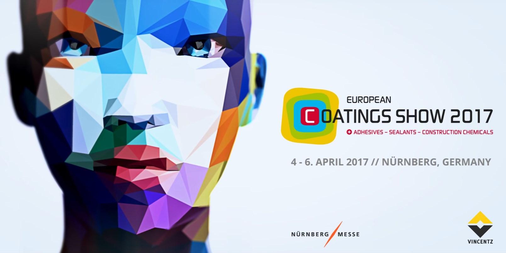 April 4-6, 2017 - European Coatings Show 2017